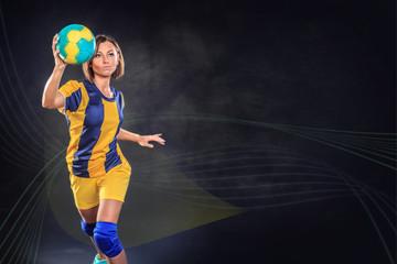 playing handball
