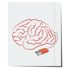 Brain with USB plug pen