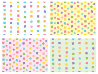 Vector cute colorful seamless patterns.