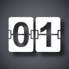 Vector flip calendar icon