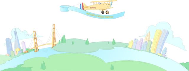 비행기와 도시