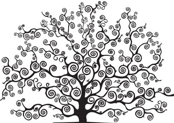 albero con rami curvi
