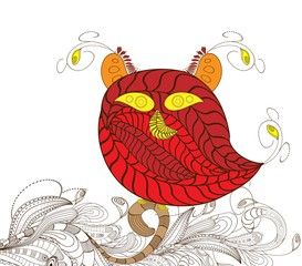 owl doodle art