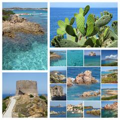 Sardinia sea collage