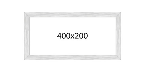 Picture frame, metal brushed, panorama, 2:1