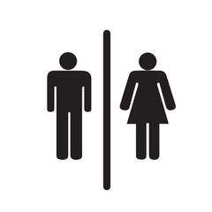 Toilet Symbol Male and Female