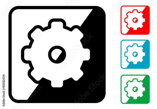 """""""Icono Simbolo Engranaje En Varios Colores"""" Stock Image"""