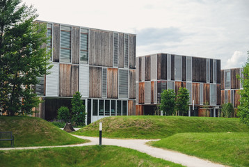Modern building on campus