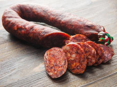 Angeschnittene Chorizo
