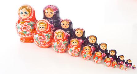 Russian beautiful Matryoshka hand painted dolls