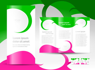 brochure design template twist curves