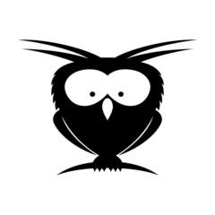 Vector sign. Owl.
