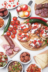 Tapas or antipasto food