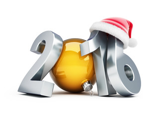 happy new year 2016 santa hat