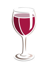 Vector image of wine glass