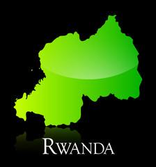 Rwanda green shiny map