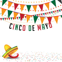 Cinco De Mayo bunting background EPS 10 vector r