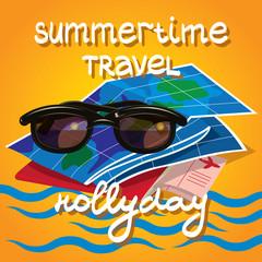 Summer time creative design template