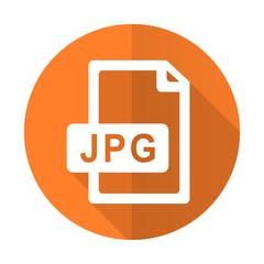 jpg file orange flat icon