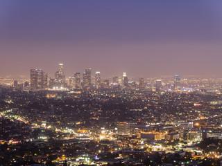 Los Angeles downtown night scene