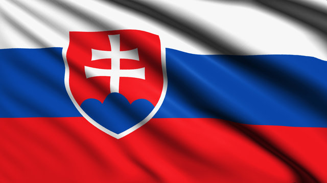 Slovakia flag with fabric structure