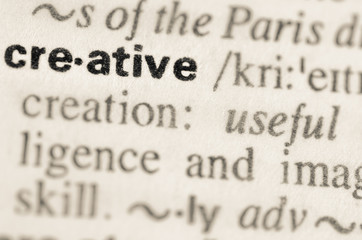 Dictionary definition of word creative