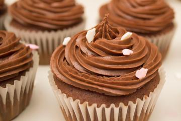 Sprinkled cupcakes