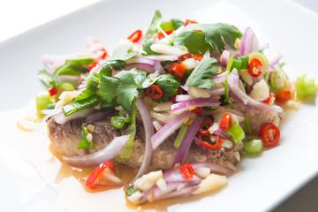 sardine spicy salad or yum sardine