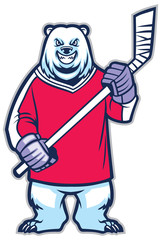 bear ice hockey mascot