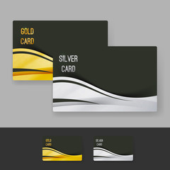 Golden and silver membership luxury card design