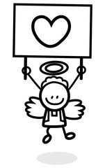 cupid kid handling love banner