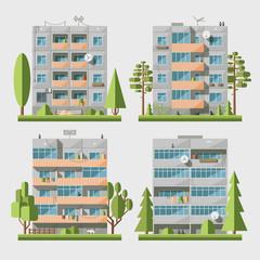 Panel houses flat set2