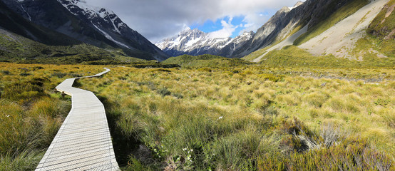 Printed kitchen splashbacks New Zealand Hooker Valley Track at Mount Cook National Park - New Zealand