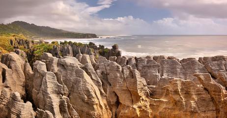 Wall Murals New Zealand Pancake Rocks, New Zealand - long time exposure