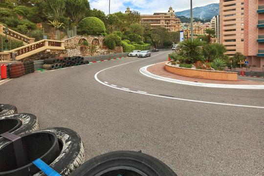 Monaco track formula 1 championship, Cote d'Azur