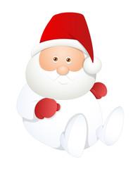 Sitting White Santa Claus Vector