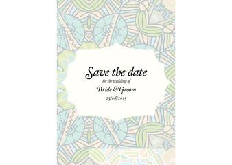 Beautiful abstract wedding invitation Vector illustration