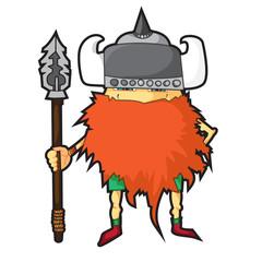 Cartoon viking.