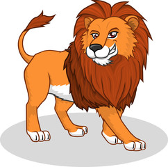 High Quality Lion Vector Cartoon Illustration
