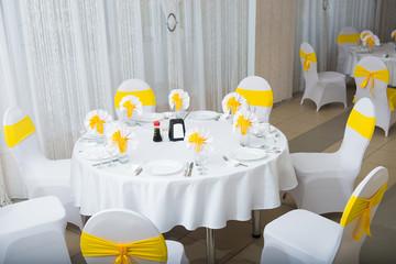 white interior of the restaurant