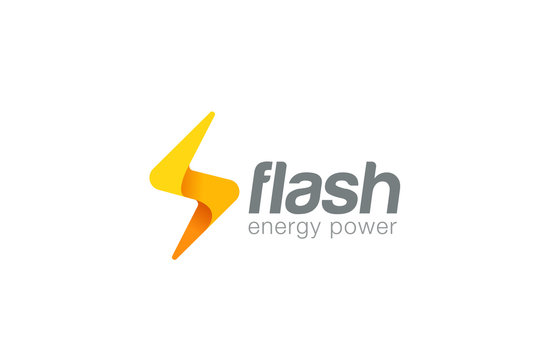 Lighting bolt Flash Logo design vector. Fast Quick icon