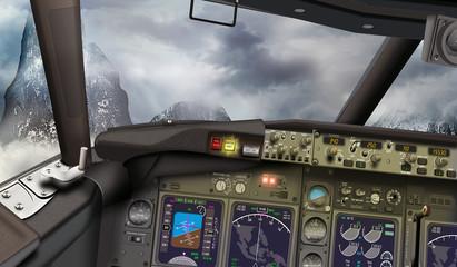 Passagierflugzeug im Gebirge auf Kollisionskurs, Mayday