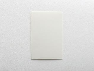 blank white card on a white