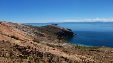 copacabana  bolivia mountains  lake titicaca isla del sol