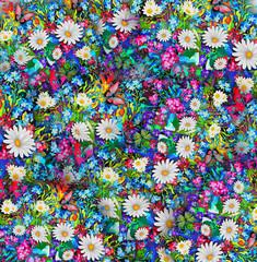 весенний пейзаж с цветами