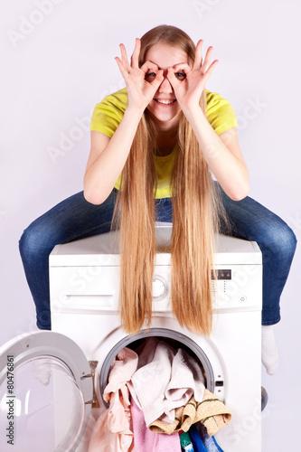 лицу негритоска сидит на стиральной машине сегодняшний день, перевозка