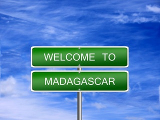 Madagascar Welcome Travel Sign