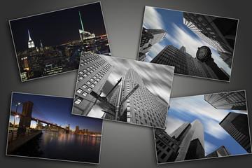 photo collage of manhattan