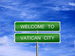 Vatican City Travel Sign