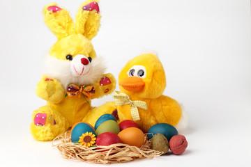 Peluche e uova pasquali